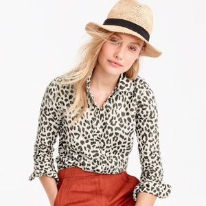 J Crew Linen Perfect Short in Leopard 🐆 Print